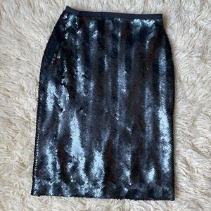 Sequin Pencil Skirt J Crew Sz 0
